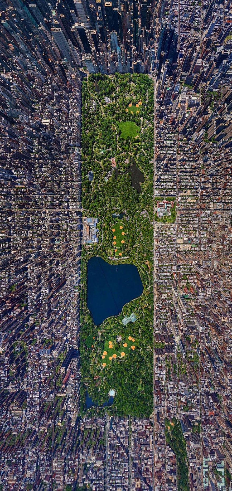 Foto panoramica Central Park, USA