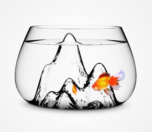 acquario di vetro creativo