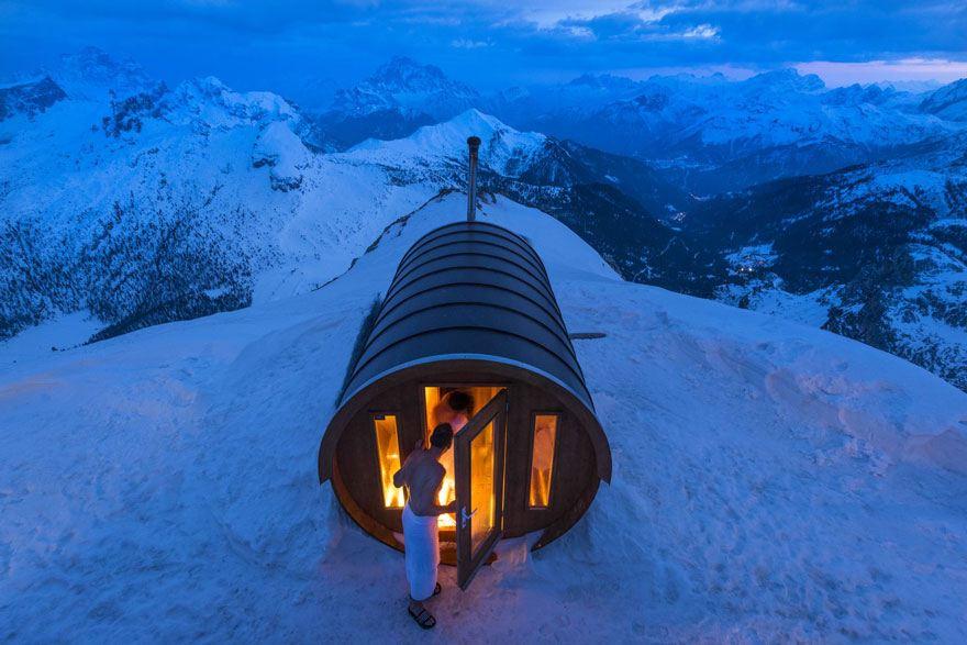 Spa e sauna sulla montagna