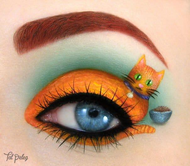gatto intorno all'occhio