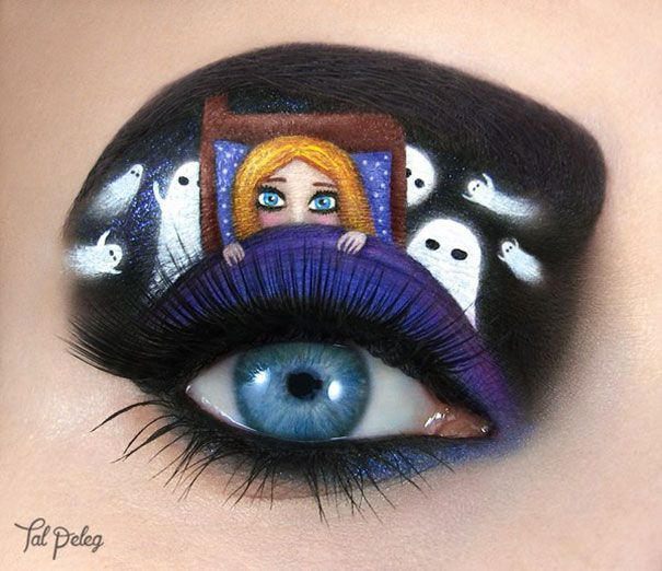 dipingere occhi