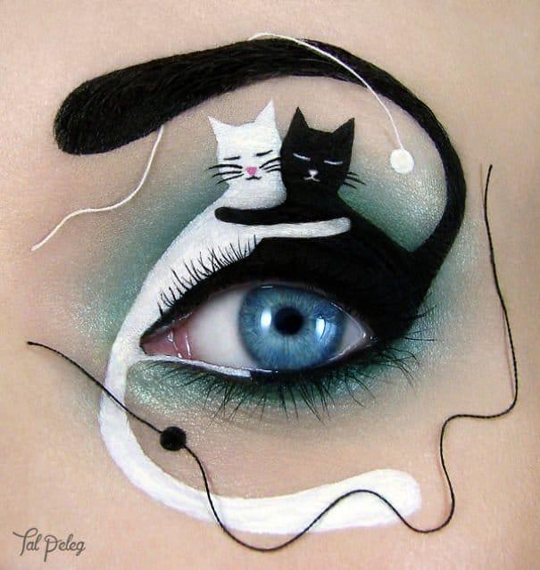 gatti disegnati sopra l'occhio