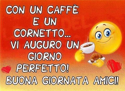 Buongiorno amici con un caff e un cornetto for Immagini divertenti buongiorno sabato