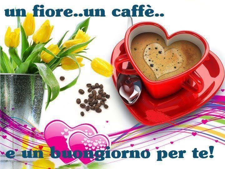 Molto Un fiore, un caffè e un buongiorno per te!! | immaginiamo.org LN35