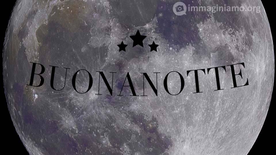 Messaggio della Buonanotte con la luna piena