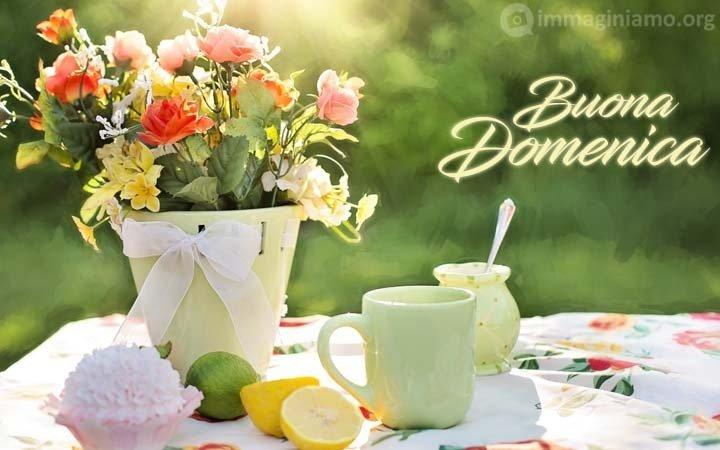Buona domenica vaso di fiori