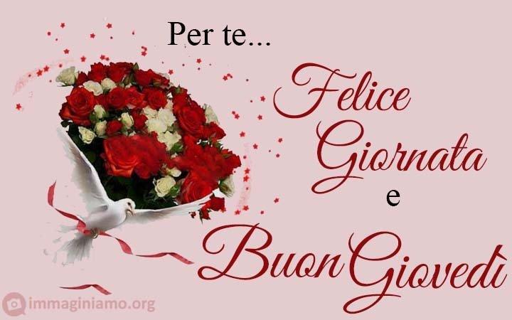 Felice giovedì per te con rose