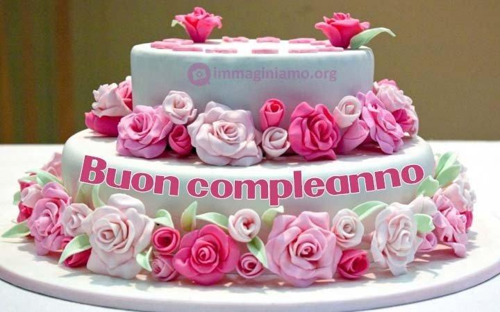 buon compleanno con torta