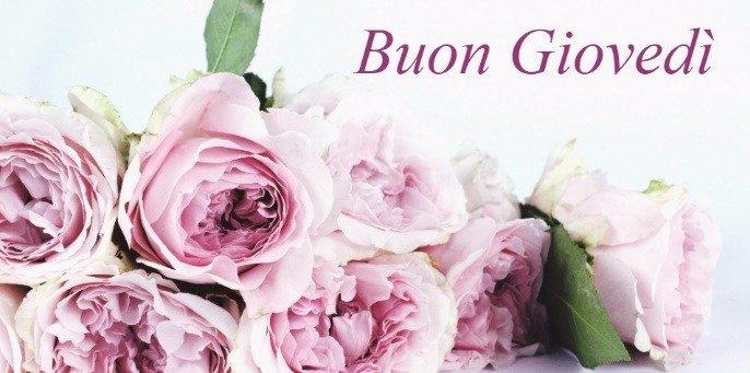 buon giovedì romantico con rose