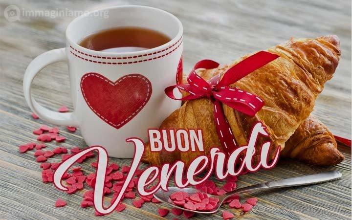 buon venerdì cuore e caffè