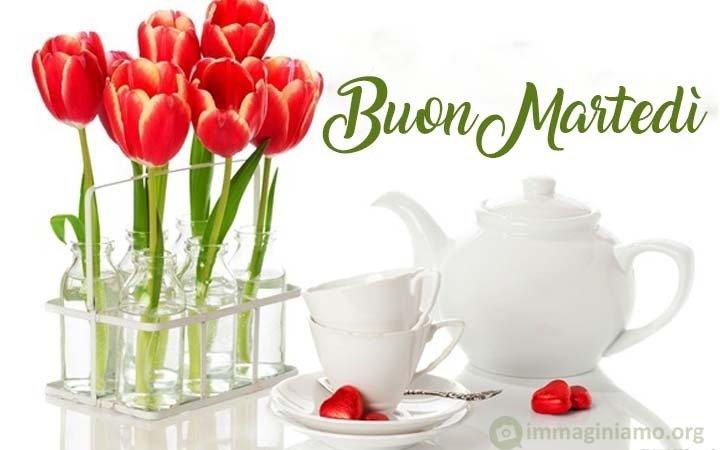 Immagini buon martedì con fiori