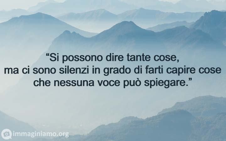 Frasi belle parole e silenzi