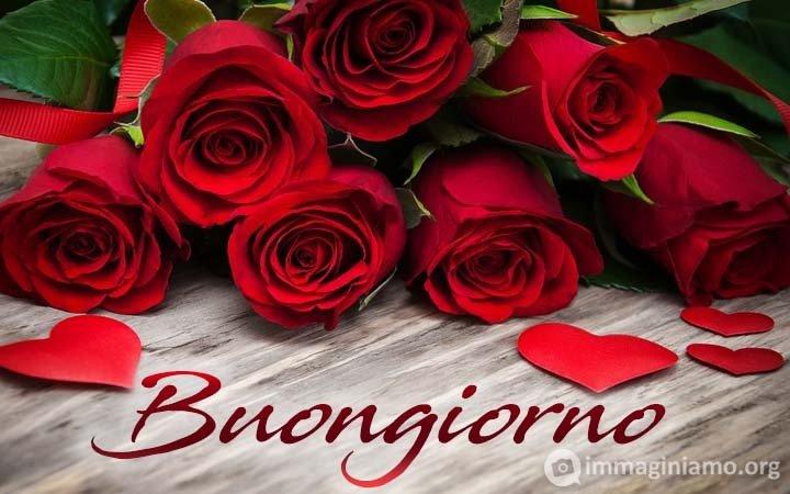 buongiorno con rose