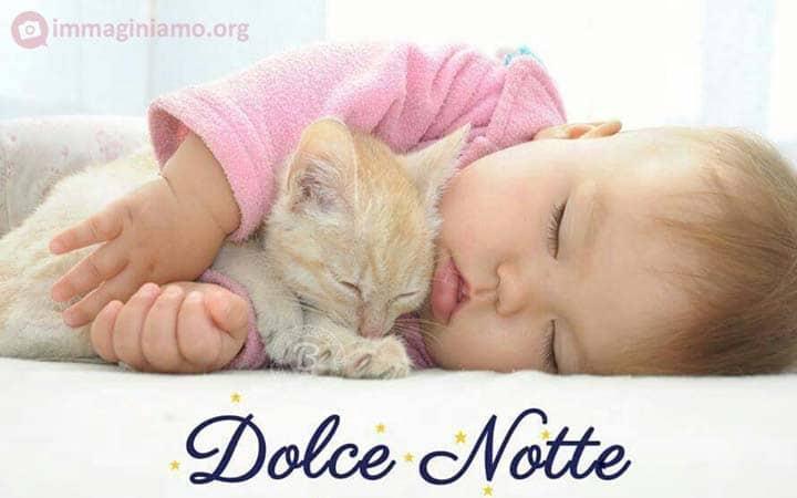 Immagini dolci buona notte con bambino