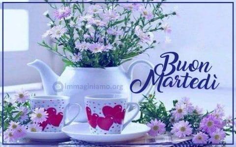 Buon martedì immagini con fiori da condividere